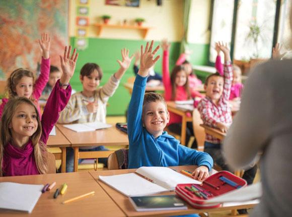 Cours en groupe pour les ecoliers